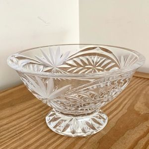 VTG Etched Glass Trinket Dish